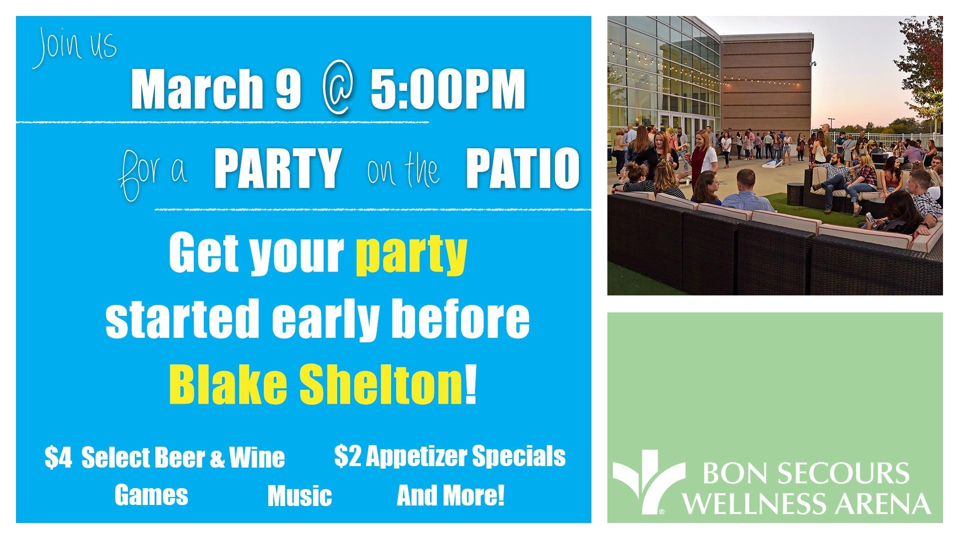Blake Shelton Patio Party Bon Secours Wellness Arena
